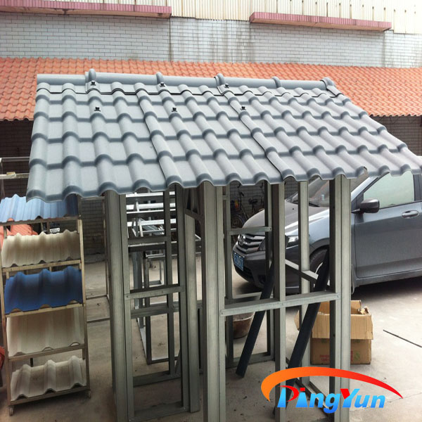 Plastic Spanish Roof Tile/pvc Roofing Tile/bamboo Huts