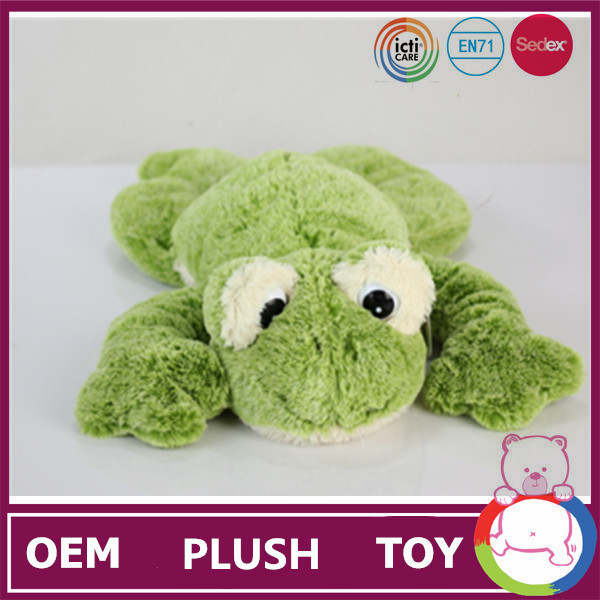 New Product 10 inch frogs plush toy plush emoji pillows stuffed animal shape kid gift green frog dog toy