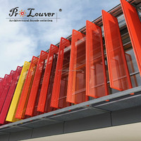 Modern building perforated aluminum panel wall curtain