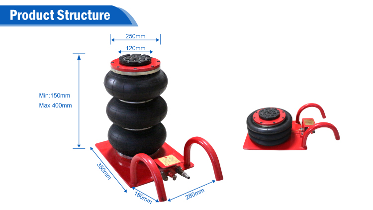 Chinese factory pneumatic car repair lift air bag jack for sale