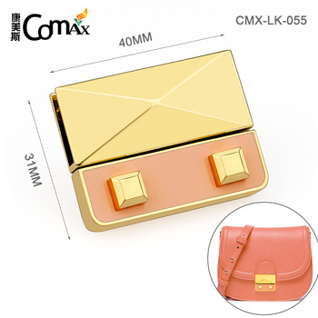 Dongguan Suppliers Custom Metal Handbag Lock Hardware