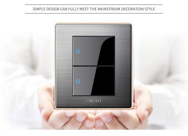 China Manufacturer Modern Design 2 Gang Lighting Switch
