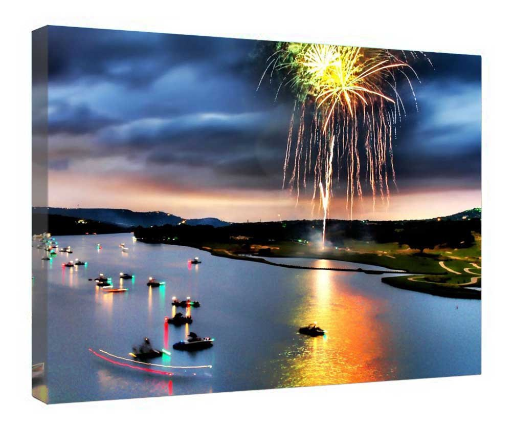 "iRocket Canvas Prints Wall Art - Work of Garden Art - Wood Board Background Stretched Canvas Wrap Ready to Hang for Home and Office Decoration - 20"" x 14"""