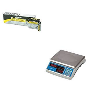 KITEVEEN91SBWB140 - Value Kit - Salter Brecknell Electronic 60 lb. Coin amp; Parts Counting Scale (SBWB140) and Energizer Industrial Alkaline Batteries (EVEEN91)