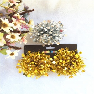 High Quality Christmas Metallic Fireworks Gift Ribbon Bow