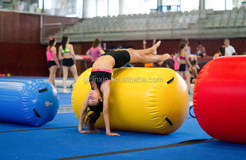 Wholesale 1.5m Inflatable Bounce Air Track Roller Mat DWF Inflatable Yoga Air Barrel Mat Tumbling Air Roll For Gymnastics
