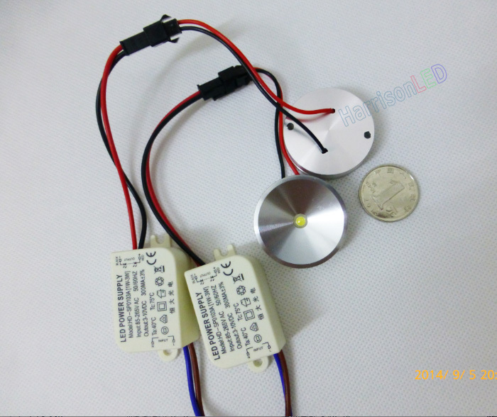 Ultra-thin 12v 24v Dc 1w 3w Cabinet Led Mini Spot Light - Buy ...