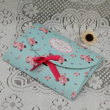 Custom Design High End Paper Wedding Gift Envelopes For Invitation