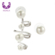 AIDAILA Handmade Jewelry Asymmetry Pearl Wrap Clip Ear Cuff Earrings