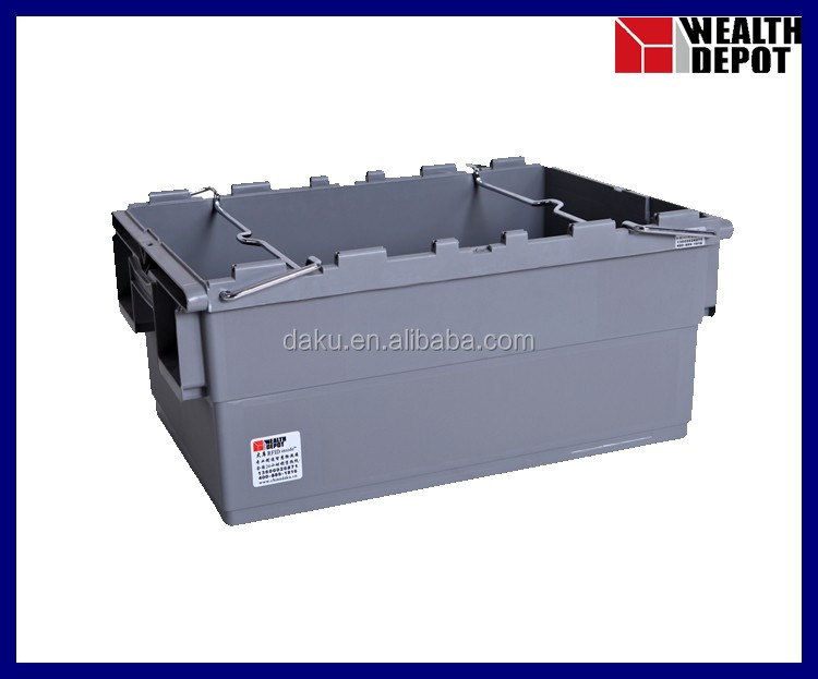 Plastic Storage Bin with Steel Bars