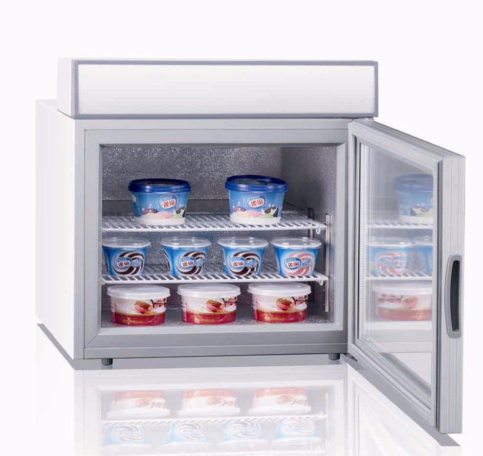 Front Open Door Small Deep Freezer With Glass Door Buy
