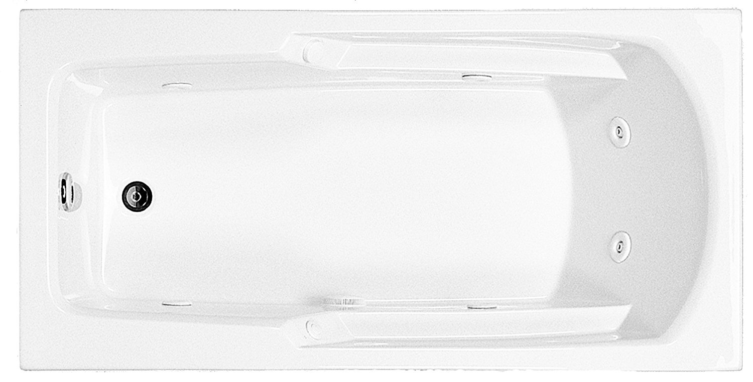 Reliance R6030ERRW-B Rectangular End Drain Whirlpool, 60-Inch by 29.75-Inch by 17.375-Inch, Biscuit, Biscuit
