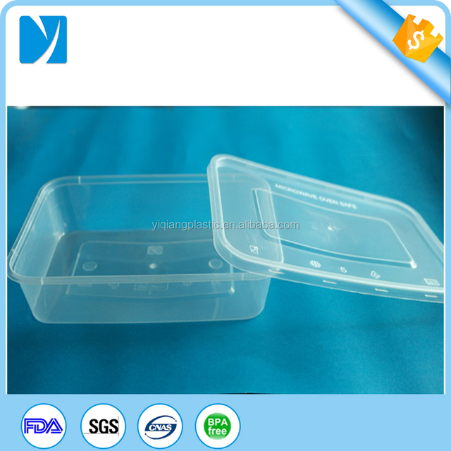 one time use easy take out plastic food packaing container 500ml