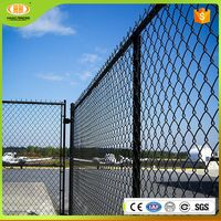 Free samples durable and easy to install residential color-coated wire chain link fence fabric boundaries of the playground