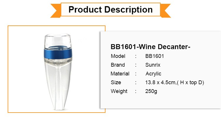 Best Selling Professional Acrylic Wine Decanter