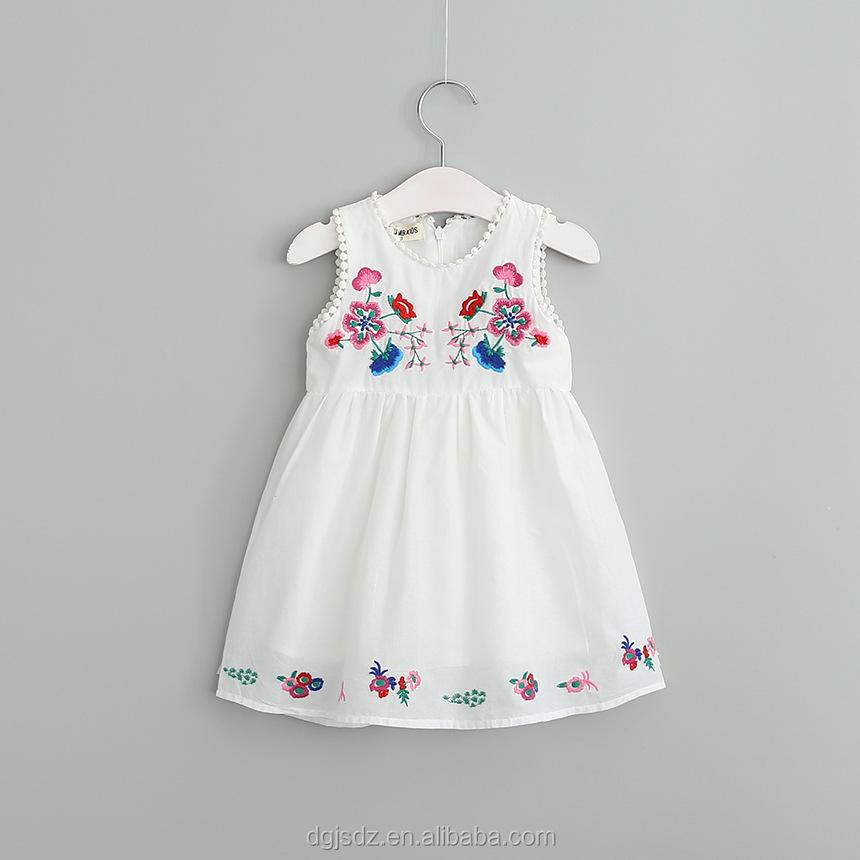 027 380131 niños ropa niños vestido bordado Diseño bebé chica ...