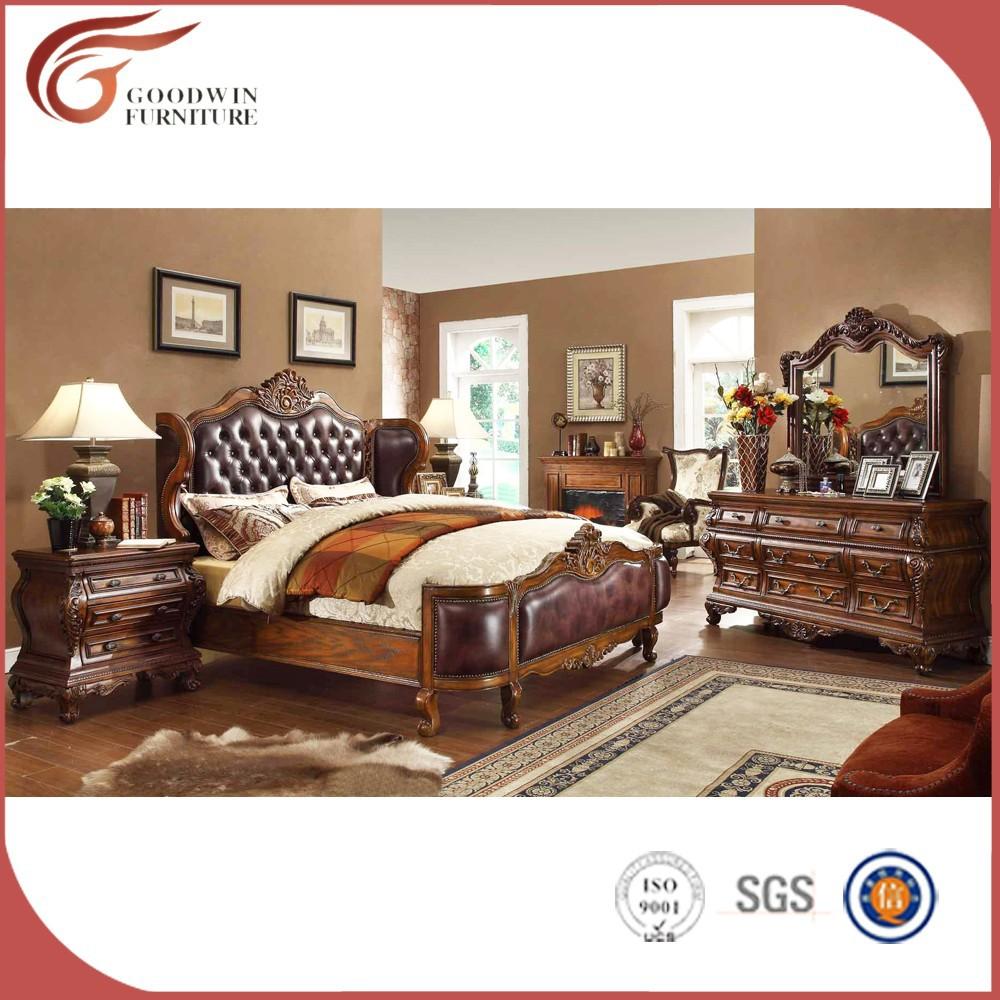 Lujo cama con dosel muebles de dormitorio antiguo for Muebles de dormitorio antiguos