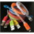 portable flashing led data line led mobile phone cable