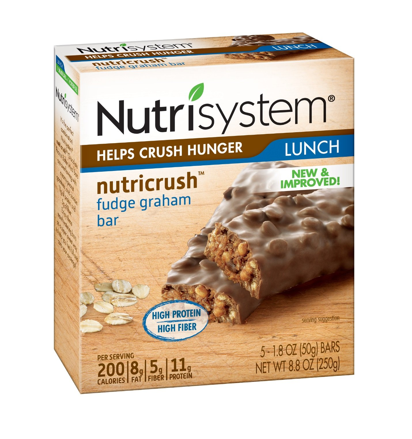 Nutrisystem® NutriCRUSH® Fudge Graham Bars, 30 ct