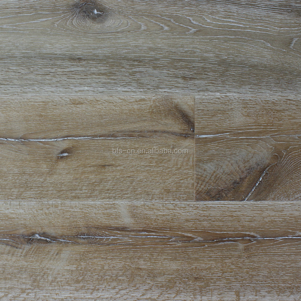 Designed for Americans Rustic style Smoked & Brushed UV lacquer CARB Certification Oak 3 - ply engineered Wood Flooring