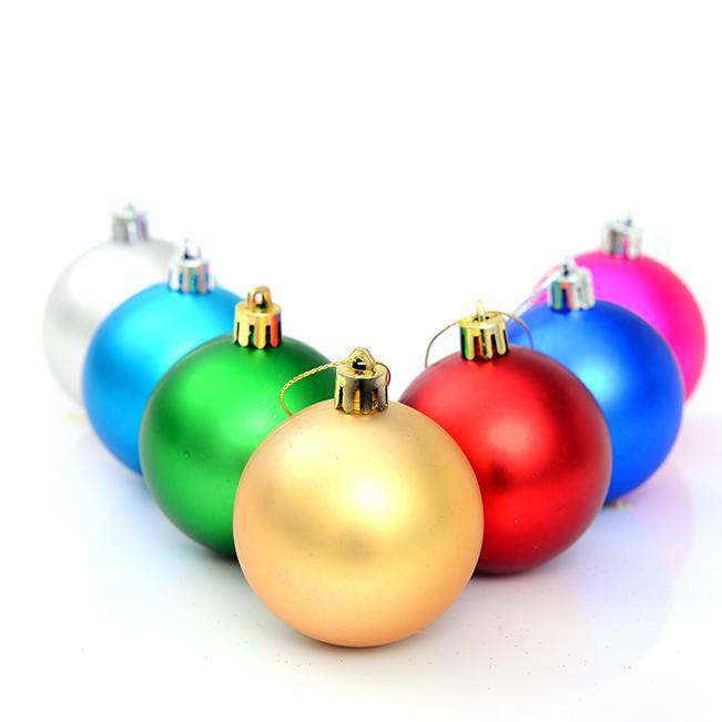 Christmas Tree Balls.Mini Christmas Ball Decoration Cristmas Decor Tree Ball New Year Xmas Party Balls Ornaments Red Blue Gold Silver Green Lake Blue