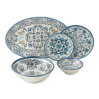 Durable, scratch-resistant Blue Melamine Dinnerware Collection