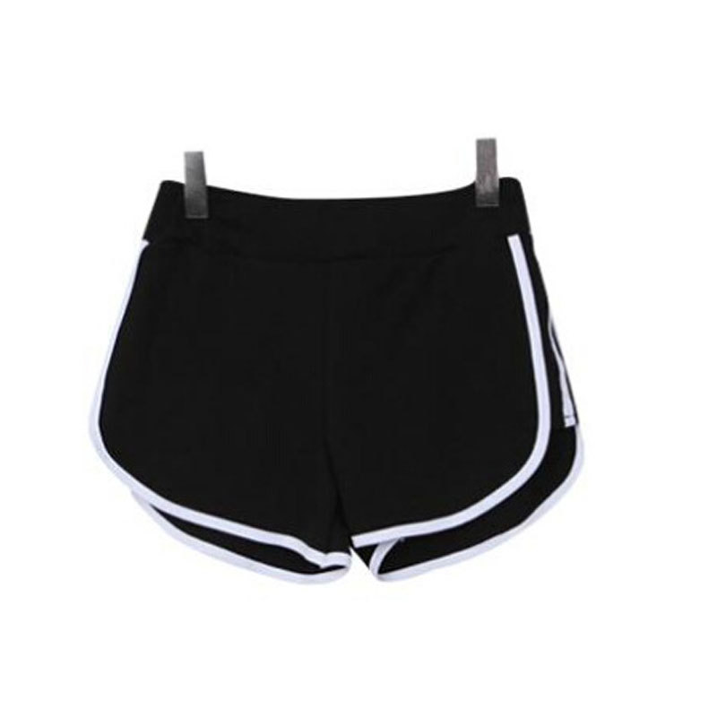 black sports shorts womens