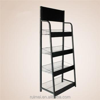 Metal Wire Display Racks | Black Metal Wire Floor Standing Snack Display Racks Buy Snack