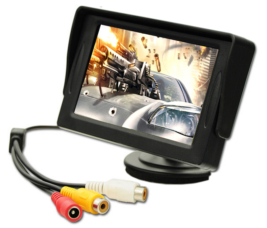 4.3 Inch Car TFT LCD Roof Mounted Monitor With Reverse Camera