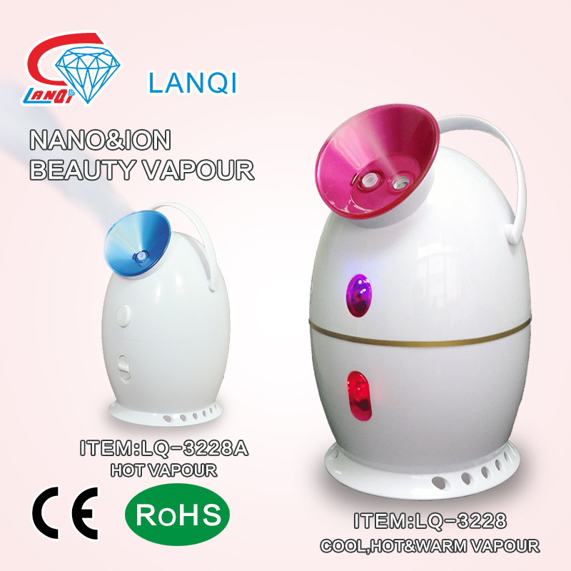 Customized professional dual use hot cold ozone facial steamer with low price
