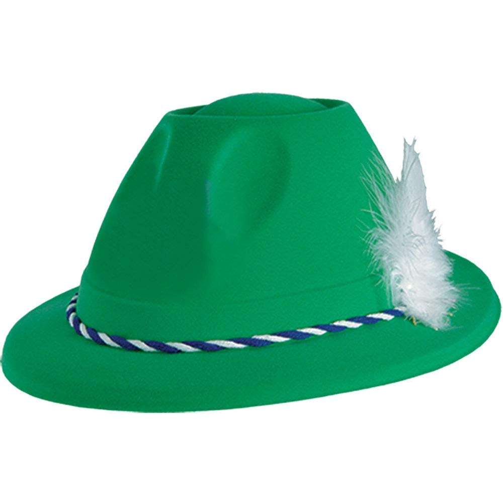 9d0777c94f6 Get Quotations · Green German Tyrolean Hat 9in x 5in