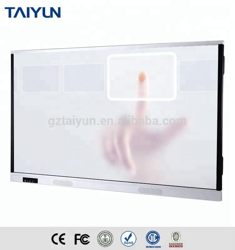 Smart educational equipment wall mount school classroom interactive whiteboard with infrared touch screen