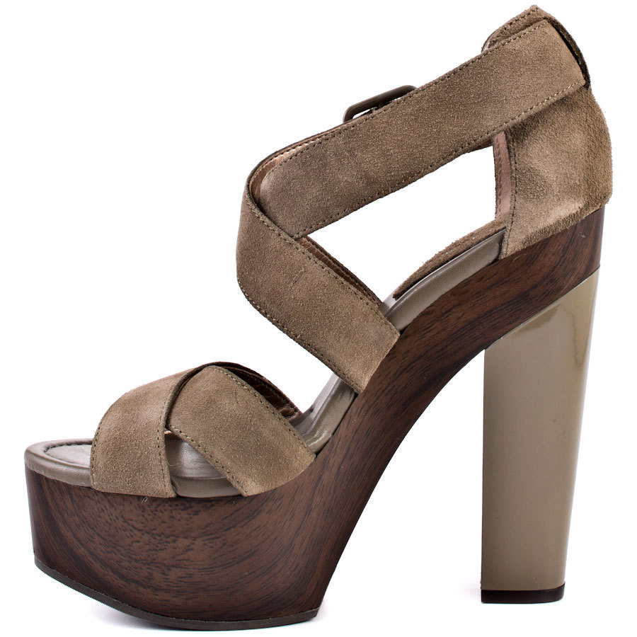 Dark Brown Square Chunky Heel Women Sandal Casual High Heels Shoes Women 2015 Platform Open Toe Sandalias Flecos Women