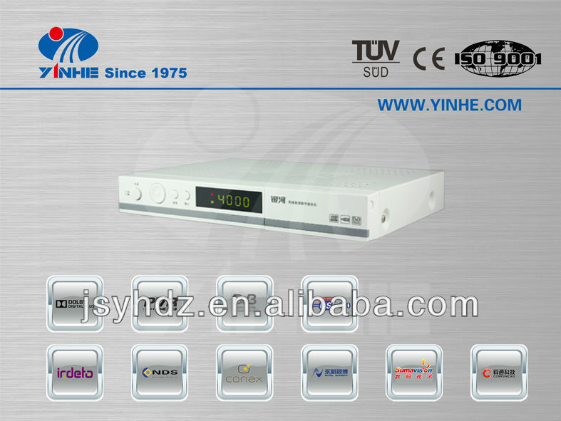 Newest DVB S satellite tv receiver with wifi modem
