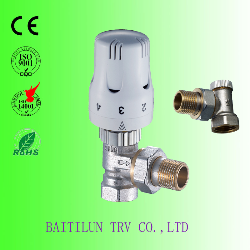 Self-Operate Constant Temperature Control Angle Valve TRV in Home heating and ventilation