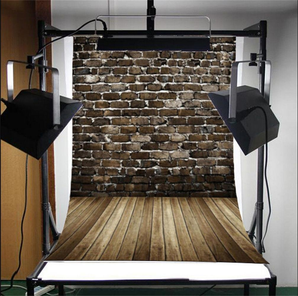 5x7ft Lfeey Vinyl Thin Photography Background Baby Newborn Brick Wall Wood Floor Kids Backdrops,Customizable 1.5(W)x2.2(H)m Studio Props