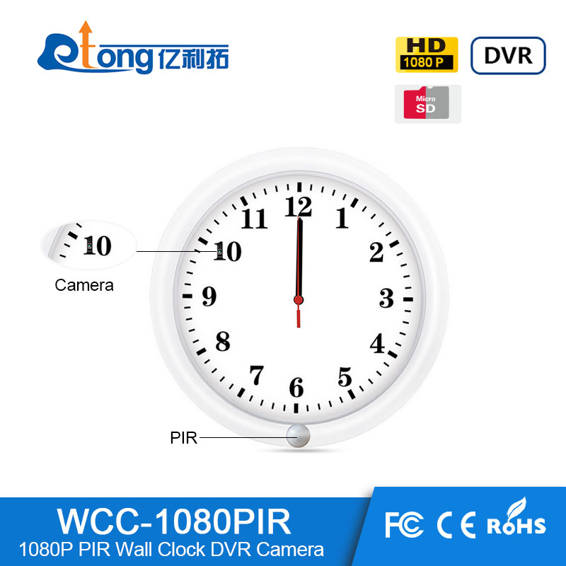 white 1080p hidden spy wall clock watch hidden camera <strong>MAX</strong> 128GB digital camera/camera watch clock