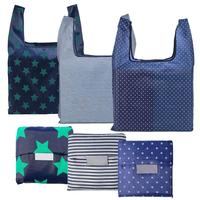 wholesale custom promotional recycle market eco friendly reusable grocery tote nylon foldable shopping bag for gift
