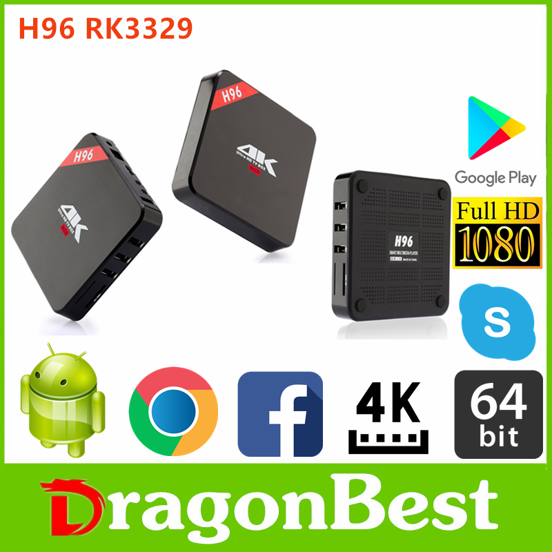 Factory pricece H96 RK3229 1G 8G TV BOX ott tv box bluetooth 4.0 and dual wifi Android 6.0 set top box