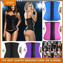 breathable wasit Latex Waist Trainer Waist Training orange Corsets Wholesale