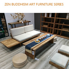 buddhism art furniture livingroom solid wood furniture set ebony wood table sofa shelf