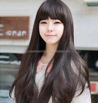 Straightened Long Layered Black Hair 38