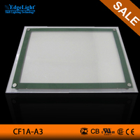 Hanging LED Crystal Light Box, LED Light Pocket with Clear Edge acrylic frames photo led light box