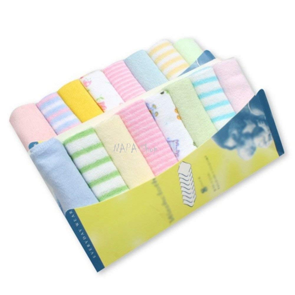 NAPA Shop 8pcs/pack Cotton Newborn Baby Towels Saliva Bibs Towel Nursing Towel Baby Boys Girls Washcloth Handkerchief