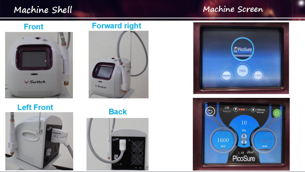 GOMECY Professional pico laser nd yag laser machines picosecond laser tattoo removal freckle eyebrow removal