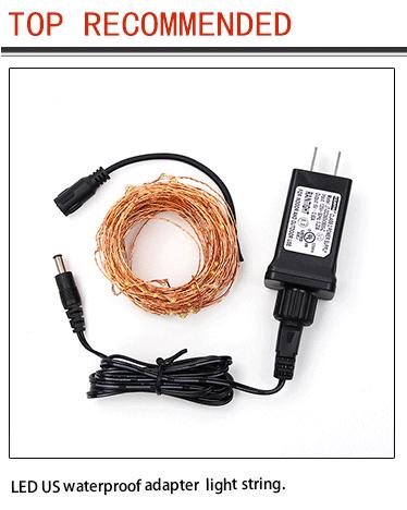 Kupfer Draht Fernbedienung Wasserdichte Outdoor-Plug In-Adapter 8 Modell LED Sternen String Lichter