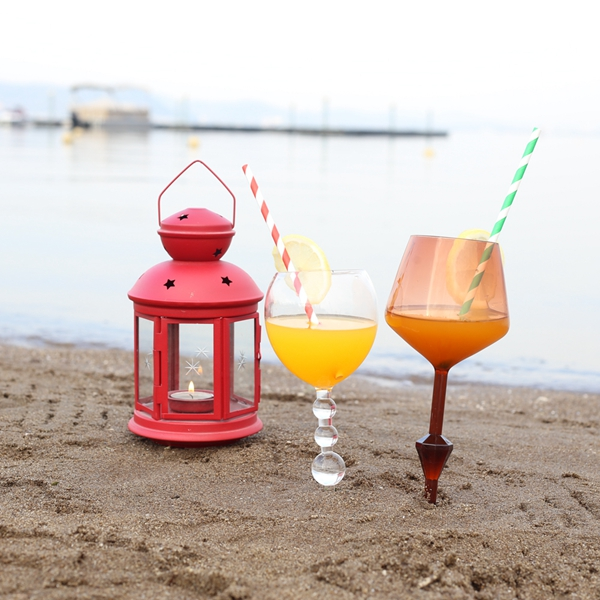 Promotional Gift Colorful Special Acrylic Beach Beverage Cup