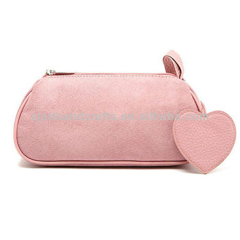 Promotional Suede Cosmetic Bag Mirror