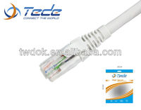 Factory direct CE and RHOS approved utp rj45 110 8p8c patch cord cable cat5e/cat6