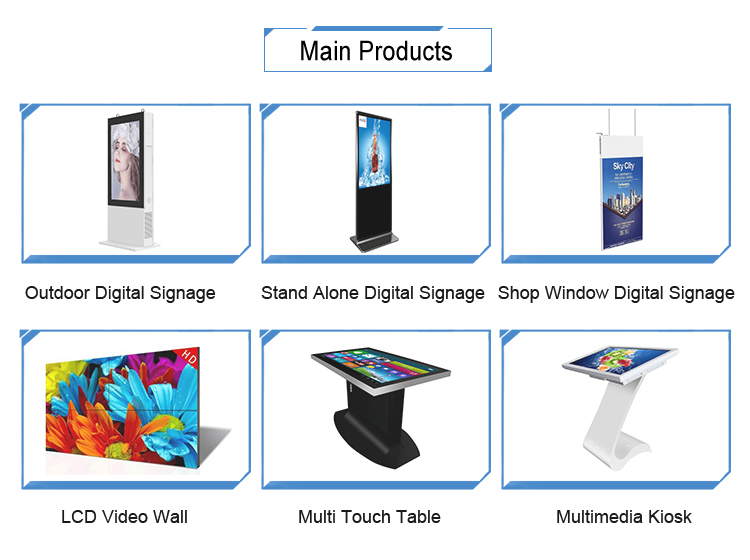 interactive free standing indoor kiosk advertising stand pc touch screen